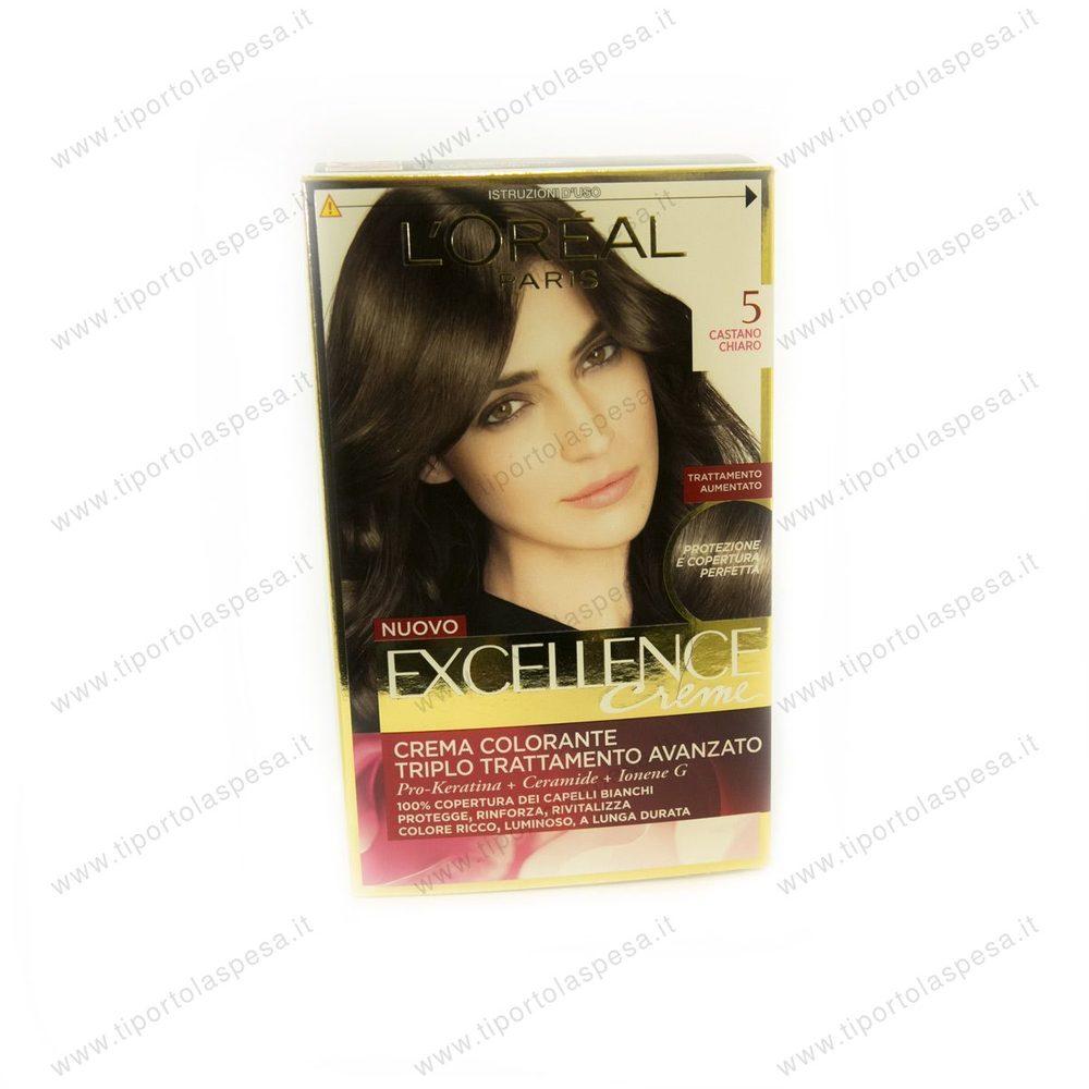 Colorante Excellence L oreal castano chiaro nr.5 - www.tiportolaspesa.it 391c9e91c196