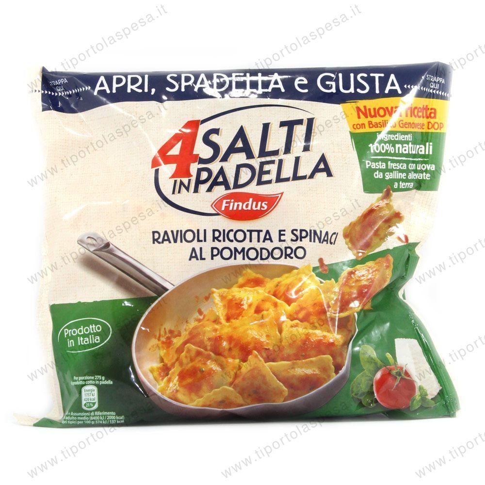 Ravioli findus 4 salti in padella ricotta spinaci al for Cucinare 4 salti in padella