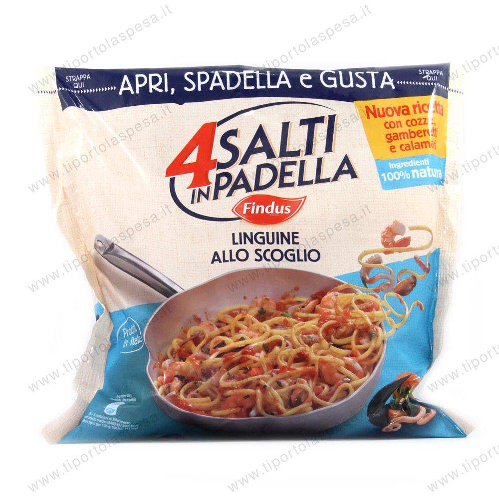 Linguine allo scoglio findus 4 salti in padella for Cucinare 4 salti in padella