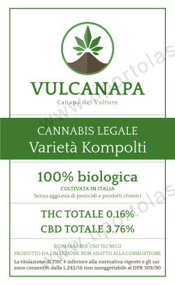 etichetta vulcanapa canapa light