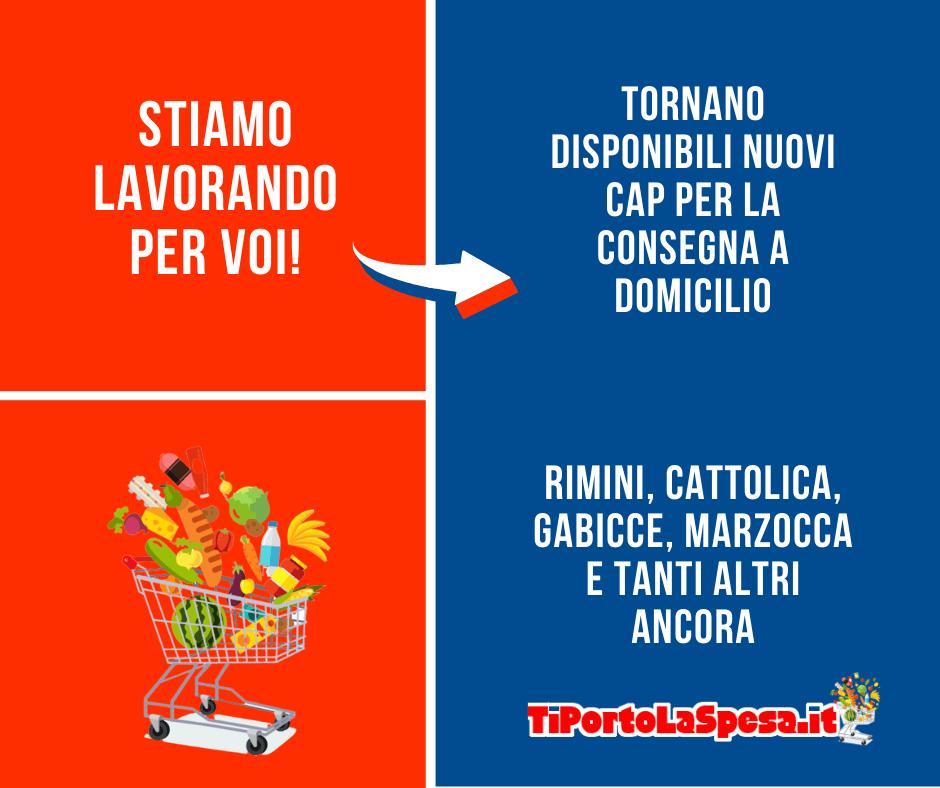 Torna disponibile la spesa online a Rimini, Cattolica, Gabicce, Cagli